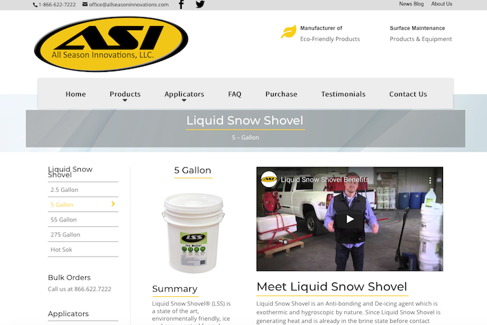 All Season Innovations 2 Product page
