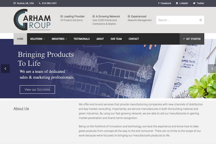 Garham Group 1 Home page