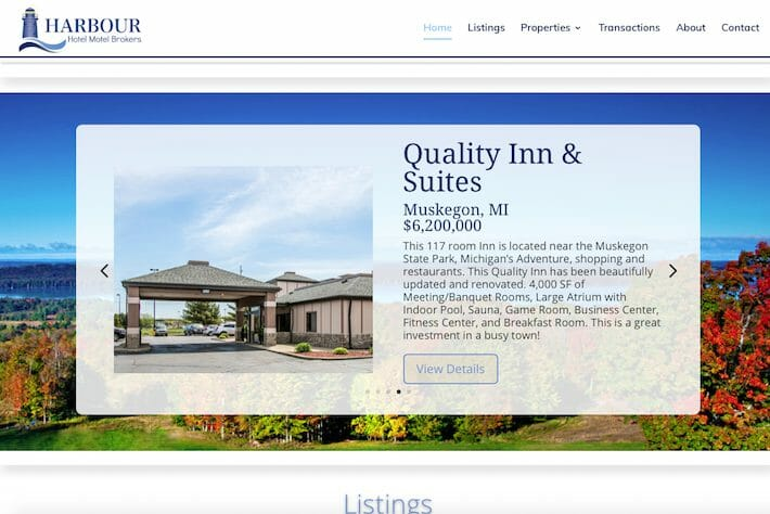 HarbourHotels 1 Home page