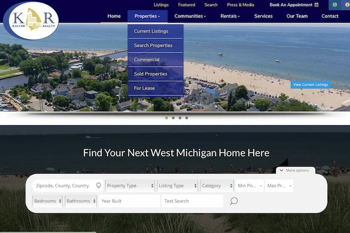 KalcerRealty 1 Home page