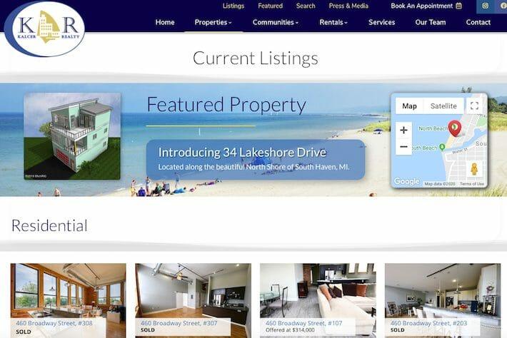 KalcerRealty 2 Properties page