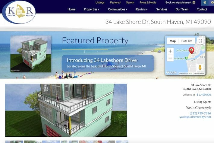 KalcerRealty 3 Property page