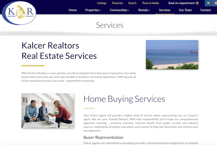KalcerRealty 4 Services page