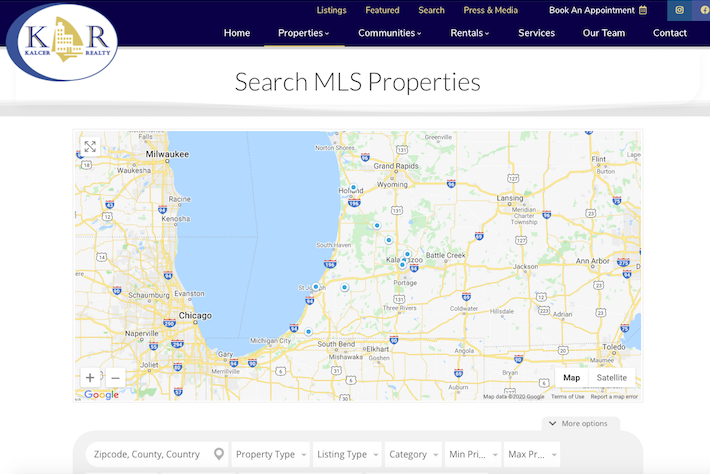 KalcerRealty 5 Search MLS page