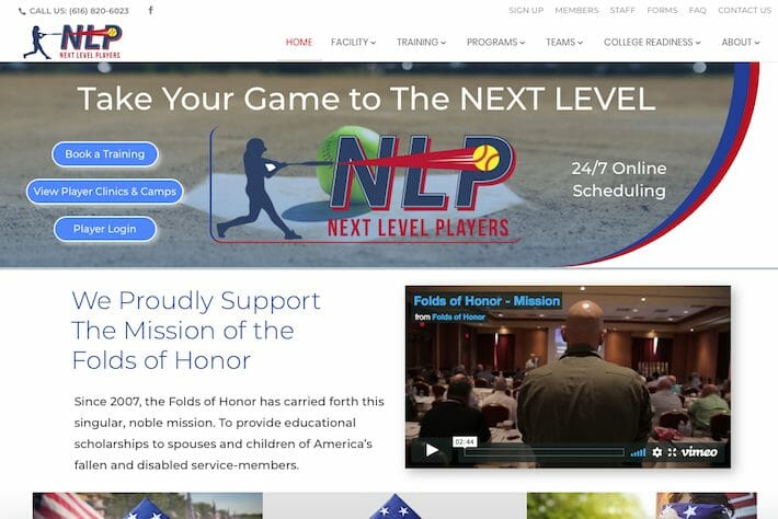 NextLevelPlayers 1 Home page