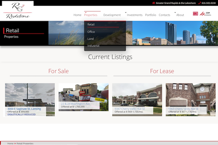 Redstone Group 2 Listings page