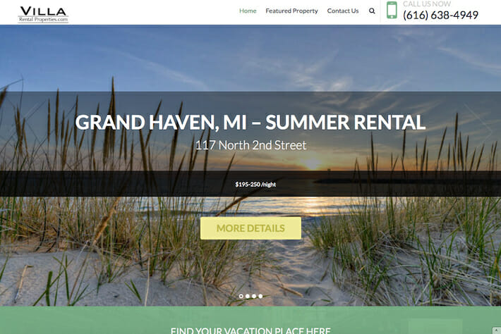 Ville Rental Properties 1 Home page