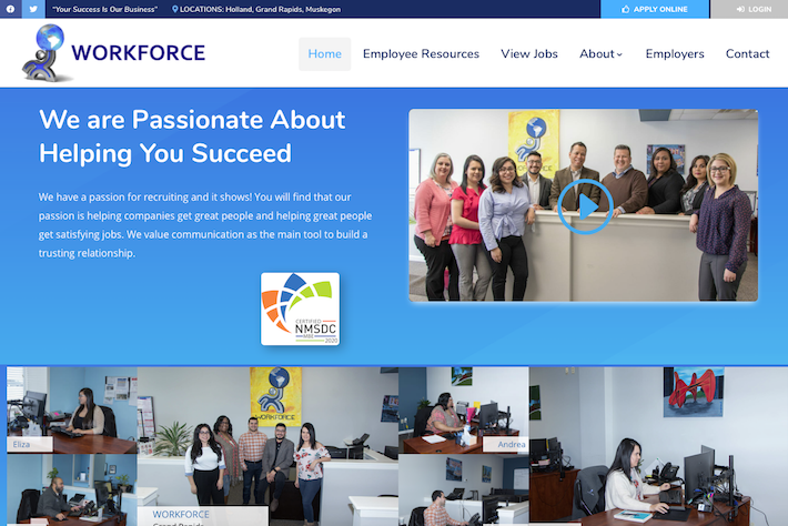 WORKFORCE Group 1 Home page